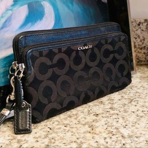 COACH Signature Monogram Wristlet